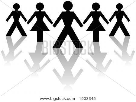 Male & Female Business Team