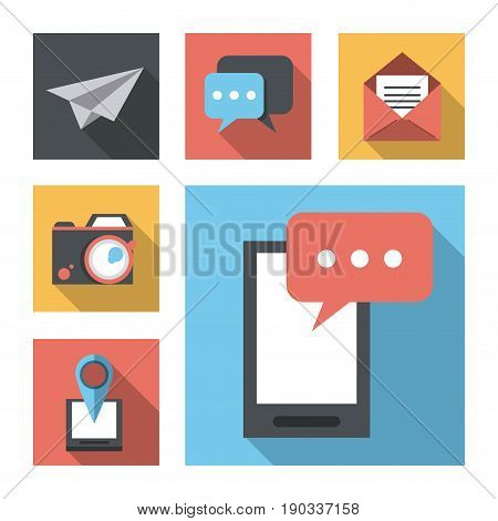 white background with business leaflet model two vector illustration