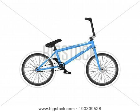 BMX sport bicycle isolated icon. Ecology trasport, outdoor people transportation and travel activity vector illustration in flat design.