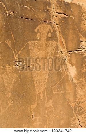 Petroglyph within the Dinosaur National Monument located right outside of Vernal Utah.
