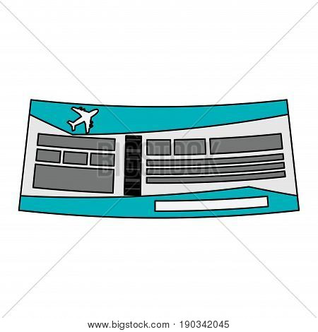 airplane ticket over white background vector illustration design