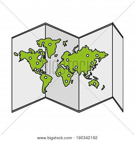 world map over white background vector illustration design