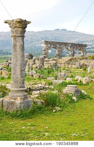 Volubilis  Morocco  And Site