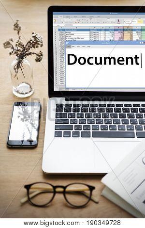 Document Spreadsheet Information Worksheet Word