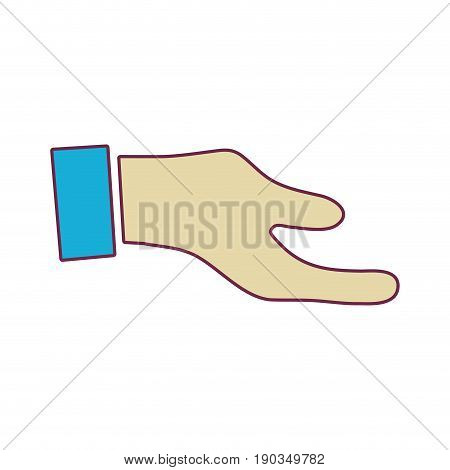 man hand to do signal or communication vector illustration
