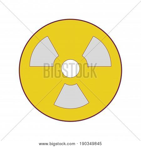 radiation symbol to dangerous and ecology contamination vector illustration