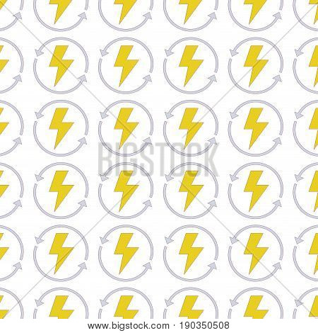 energy hazard symbol with arrows around background vector illustration