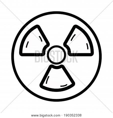 line radiation symbol to dangerous and ecology contamination vector illustration