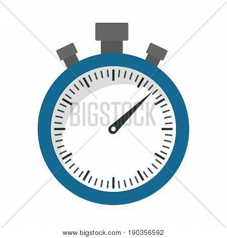chronometer device icon over white background vector illustration