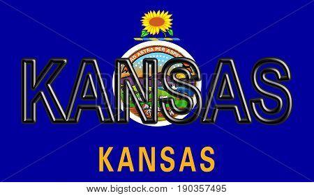 Flag Of Kansas Word