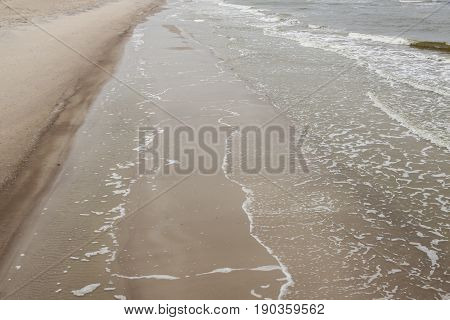 View on Sandy Baltic coast in Poland.