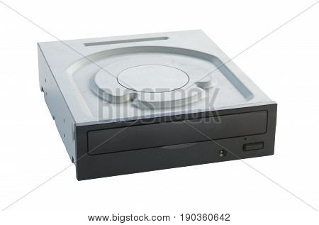 DVD Drive isolated on white background. Hardware
