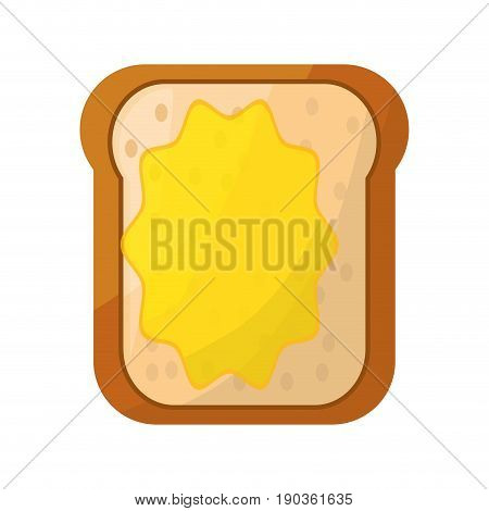 toasted bread butter vector illustration graphic design icon
