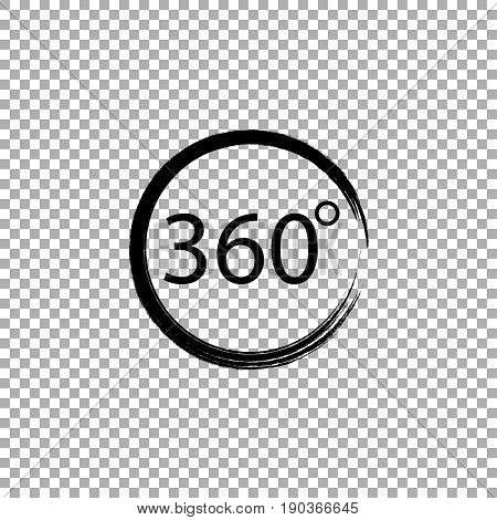 Angle 360 degrees sign icon, vector illustration