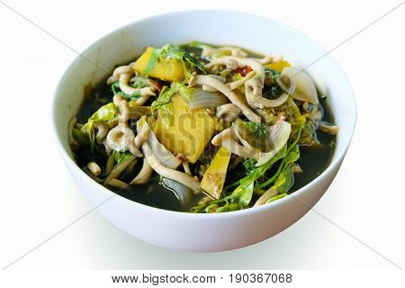 Curries with bamboo shoot Local food in northeast Thailand.