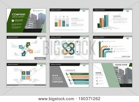 Infographic brochure elements for business and finance visualization. Set of infographic templates for flyer leaflet cover annual report presentation print website