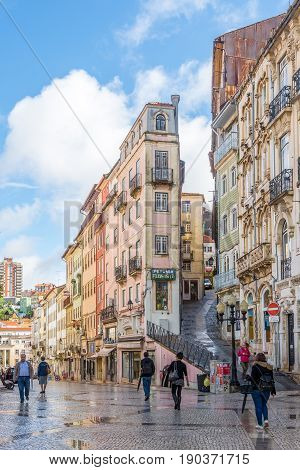 COIMBRA,PORTUGAL - MAY 12,2017 - In the streets of Coimbra city in Portugal. Coimbra is the fourth largest urban centre in Portugal.