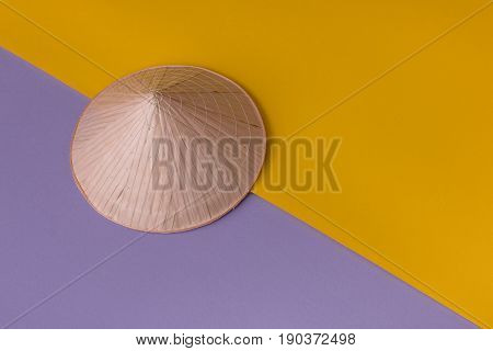Conic Hat On Vivid Background