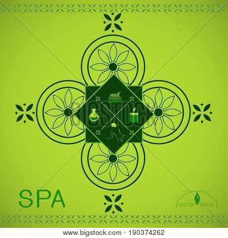 set of Logo Vector illustration of various Spa and Beauty