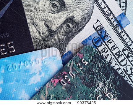 Credit Card And Currency