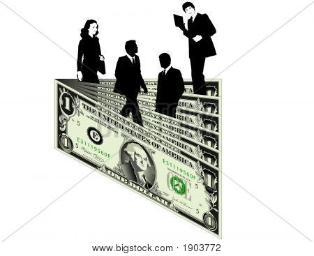 Dollar With Biz People