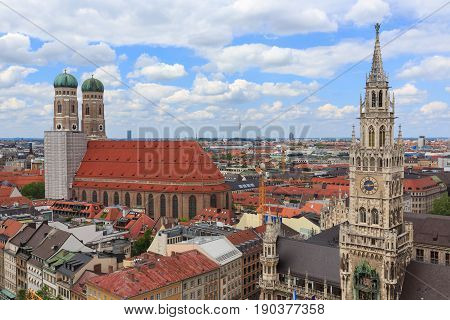 Town Hall (Rathaus) in Marienplatz Munich Germany