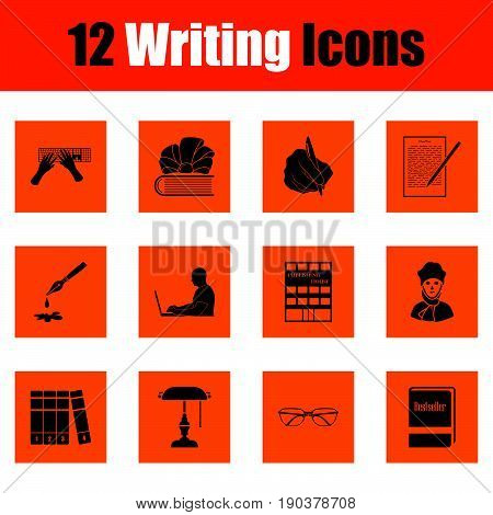 Set Of Writing Icons