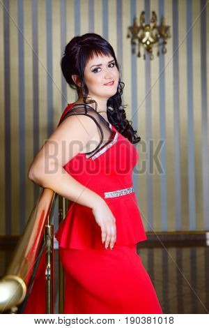 Portrait of an attractive brunette indoors
