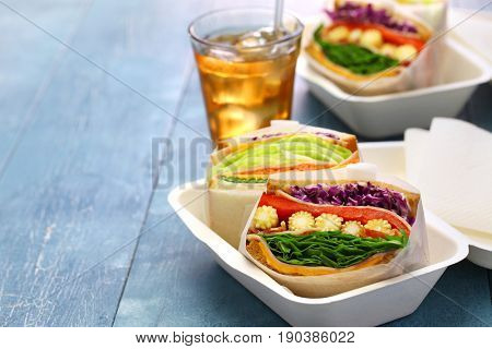 homemade healthy thick sandwich