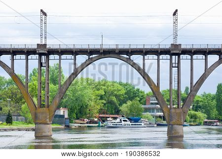 A span of a classical arched bridge.