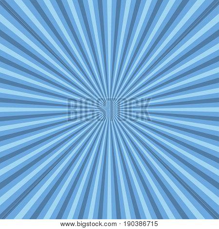 Sun rays. Blue sun rays background, vector illustration