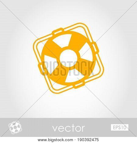 Lifebuoy outline vector icon. Beach. Summer. Marine. Summertime. Vacation eps 10