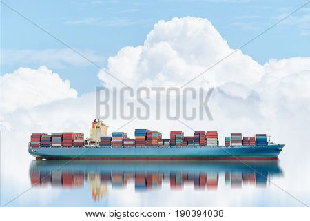 Logistics and transportation of International Container Cargo ship in the ocean Freight Transportation Shipping