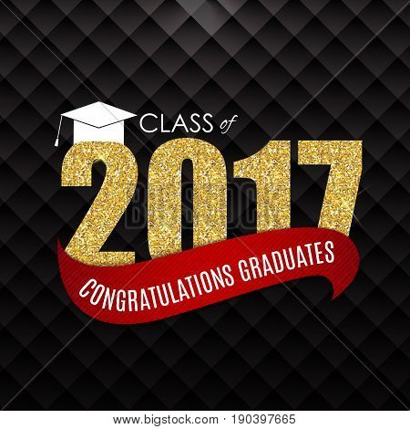 Congratulations on Graduation 2017 Class Background Vector Illustration EPS10