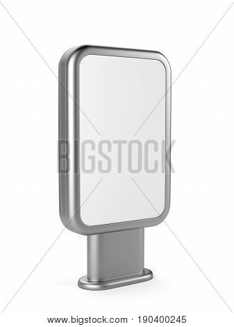 Vertical blank outdoor stand banner. Lightbox. 3d Illustration isolated on a white background.