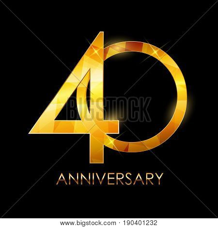 Template 40 Years Anniversary Congratulations Vector Illustration EPS10