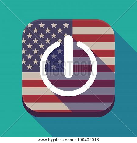 Long Shadow Usa App Button With An Off Button