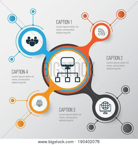 Internet Icons Set. Collection Of Blog Page, Wifi, Team And Other Elements. Also Includes Symbols Such As Team, Www, Web.