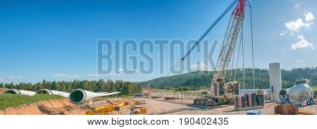 construction site for building new wind turbines