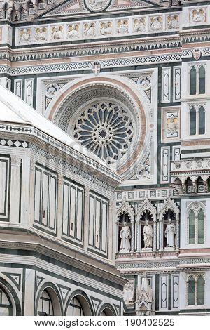Basilica Di Santa Croce  In Florence City
