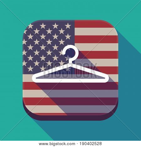 Long Shadow Usa App Button With A Hanger