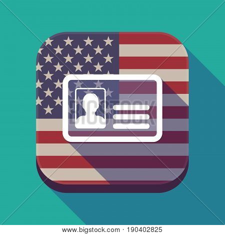 Long Shadow Usa App Button With An Id Card