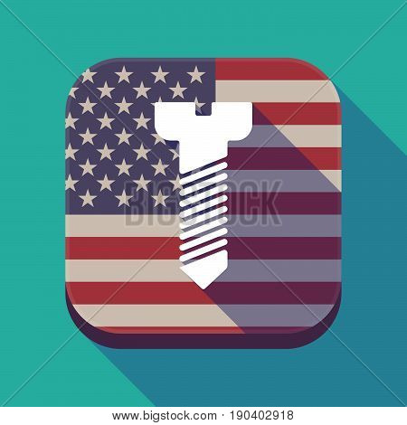 Long Shadow Usa App Button With A Screw
