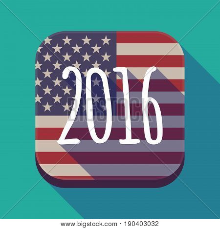 Long Shadow Usa App Button With A 2016 Sign