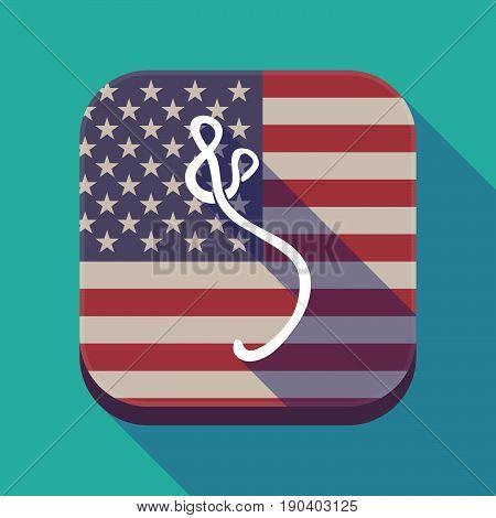 Long Shadow Usa App Button With  An Ebola Sign