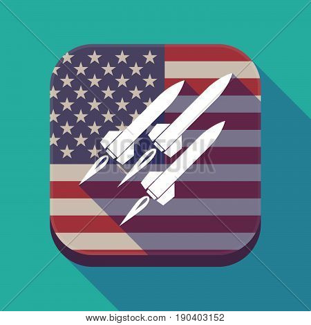 Long Shadow Usa App Button With Missiles