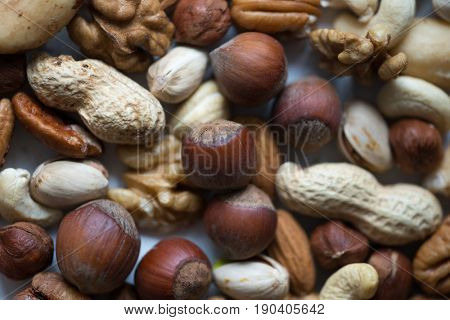 Assorted nuts, close-up view