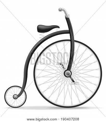 bike old retro vintage icon stock vector illustration isolated on white background