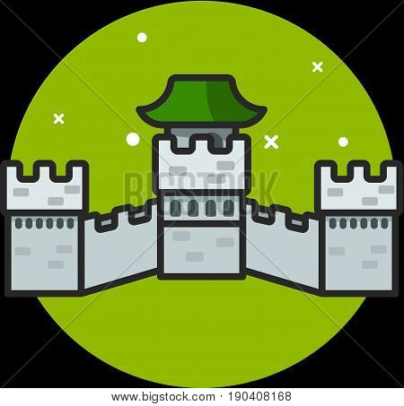 Great Chinese Wall icon illustration graphic vector