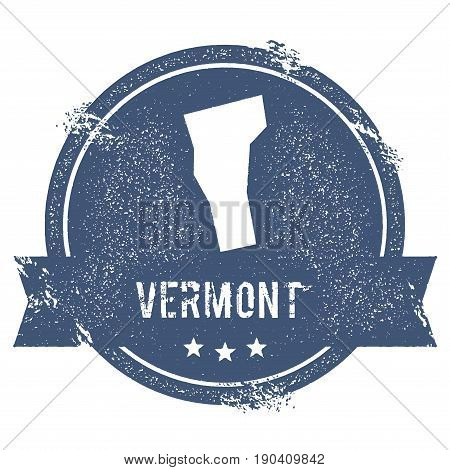 Vermont Mark. Travel Rubber Stamp With The Name And Map Of Vermont, Vector Illustration. Can Be Used